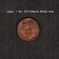 JAPAN     1  RIN   (1873---MEIJI 6)  (Y # 15) - Japan