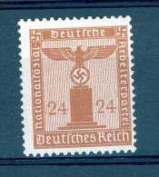 ALLEMAGNE  SERVICE  REICH  ANNÉE 1938   N° 124   NEUF GOMME CHARNIÈRES - Service