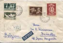 Bulgaria Sofia 1955 Registered Cover To Belgium Brussels PR338 - Briefe U. Dokumente