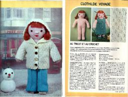 """Fiche Tricot Et Crochet """" Clothilde Voyage """" Issue De Mode Et Travaux N° 939_L29 - Wool"""