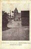 Guerre 1914-1915-SAILLY-AU-BOIS(P.-de-C.)-La Grande Rue Et L'Eglise - Ohne Zuordnung