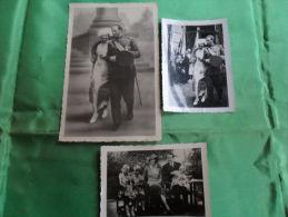 3 ANCIENNES   PHOTOS   DU ROI LEOPOLD III , LA REINE ASTRID ET PETITS PRINCES/   LIEU A IDENTIFIER - Célébrités