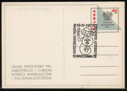 POLAND 1977 3RD SCOUT FESTIVAL FOR YOUTH SULEJOWEK WARSAW LITTLE MERMAID COMM CANCEL ON PATENT OFFICE PC SCOUTING SCOUTS - Sin Clasificación