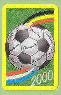 Jeu 52 Cartes FOOTBALL : Championnat D'Europe 2000. Carta Mundi. 3 Scans - Cartes à Jouer Classiques