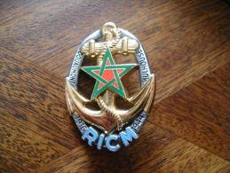 éditions ATLAS, RICM, étoile à 5 Branches Sur Ancre Marine - Army & War