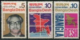 1971 Bangladesh - Liberated Overprints 3v. Maps,- Michel 09/11 MLH - Bangladesh