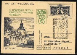 POLAND 1977 3RD SCOUT FESTIVAL FOR YOUTH SULEJOWEK WARSAW LITTLE MERMAID SCARCE WILANOW OPT PC SCOUTS SCOUTING - Sin Clasificación