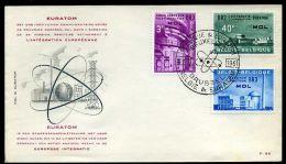 28992) Belgien - Michel 1255 / 1257 - FDC - Nuklearanlage MOL - FDC