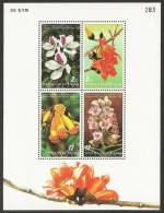 THAILAND 1999 - Flowers - S/s MNH - Thailand