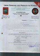 Courrier Commercial Union Française Des Produits Du Pétrole Strasbourg 6-09-1935 Pub Dragoil & Dragoline Huile Graisse - 1900 – 1949