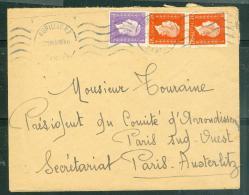 Lettre   Affranchie . Par MARIANNE DE DULAC  Oblitéré  Aurillac En Aout 1945  Phi15031 - 1944-45 Marianna Di Dulac