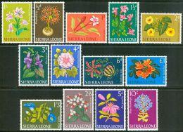 1963 Sierra Leone Fiori Flowers Fleurs Set MNH** -Fio106 - Sierra Leone (1961-...)