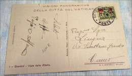 C.P.-C.P.A. KPA VATICANO VIALE DELLE ZITELLE 25 30 CENTESIMI ROUGE RARE - Lettres & Documents