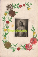 CPA TIMBRES DECOUPAGE COLLAGE JESUS JEZUS ** CUT OUT STAMPS ART CARD - Timbres (représentations)