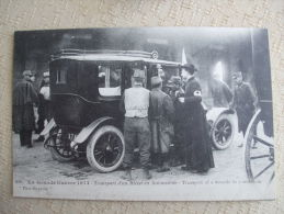 FROM - GUERRE 1914 - LA GRANDE GUERRE 1914-TRANSPORT D'UN BLESSE EN AUTOMOBILE - War 1914-18