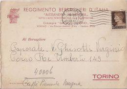 R9 928 - REGGIMENTO BERSALIERI D'ITALIA ALESSANDRO LAMARMORA COMP. GAETANO GIARDINO Di TORINO -VG  - A. 1942 - Reggimenti