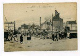 LILLE               LA RUE DE L HOPITAL MILITAIRE - Lille