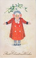 U.S. CHRISTMAS CARD  CHILD   EMBOSSED  1915 Used. - Weihnachten