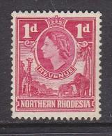NORTHERN RHODESIA (ZAMBIA): Elizabeth II, REVENUE 1955, 1d Unused, No Gum, No Cancellation - Northern Rhodesia (...-1963)