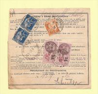 Bulletin D´expedition - Type Paix  - Mulhouse R. De France - 11-9-1937 - 1932-39 Peace