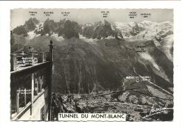 Cp, 74, Chamonix, Fiche Technique Du Tunnel Sous Le Mont-Blanc, Voyagée 1965 - Chamonix-Mont-Blanc