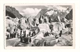 Cp, 74, Chamonix, La Mer De Glace, Voyagée 1962 - Chamonix-Mont-Blanc