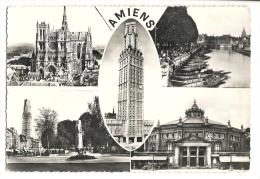 Cp, 80, Amiens, Multi-Vues, Voyagée 1956 - Amiens