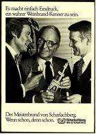 Reklame Werbeanzeige  -  Scharlachberg Meisterbrand  -  Es Macht Einfach Eindruck   -  Von 1976 - Alkohol