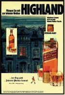 Reklame Werbeanzeige  ,  Johnnie Walker  -  Der Tag Geht ... Johnnie Walker Kommt  ,  Von 1973 - Alkohol