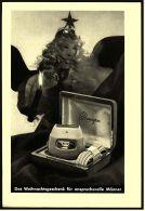 Reklame Werbeanzeige 1956 ,  Remington Elektro-Rasierer  -  Das Weihnachtsgeschenk - Wissenschaft & Technik