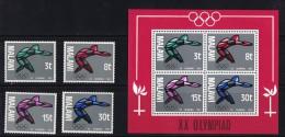 1972  Jeux Olympiques De Munich  Boxe  MiNr 186-9 Bloc 28 * - Malawi (1964-...)
