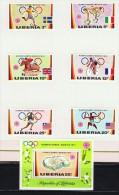 1972  Jeux Olympiques De Munich  Football, Nattion, équitation. Cyclisme, Course MiNr 826-831, Bloc 58A * - Liberia
