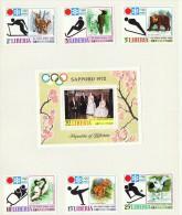 1972  Jeux Olympiques De Sapporo  Sports Et Animaux MiNr 810-5 Bloc 58A * - Liberia