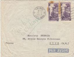 (252) Vietnam 1953 Lettera Per La Francia - Vietnam