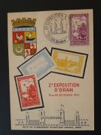 Carte Maximum Maximum Card Foire Exposition Oran 1951 Palmier Palm Tree - Algérie (1924-1962)