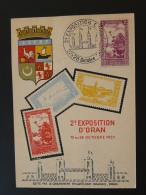 Carte Maximum Maximum Card Foire Exposition Oran 1951 Palmier Palm Tree - Cartes-maximum
