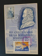 Carte Maximum Maximum Card Roi King Henri 4 Pau Meeting Aerien 1953 Vignette Berceau De L'aviation - Erinnophilie