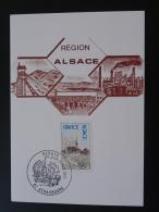 Carte Maximum Maximum Card Région Alsace Strasbourg 1977 - Maximum Cards