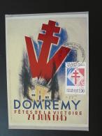 Carte Maximum Maximum Card Général De Gaulle Paris 1990 Appel à La Résistance France Libre - De Gaulle (General)