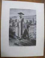 Gravure Un Berger En Alsace - Repro De Années 30 - - Prints & Engravings