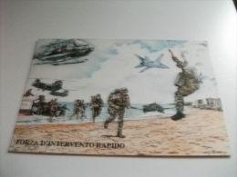 Forza D'intervento Rapida Elicotteri Paracadutisti Aerei Militari Soldati Illustratore Bruno G. Mostra Roma E.u.r. 1990 - Manovre