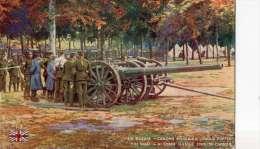 WW1  TROUPES ANGLAISES  ARMEE ANGLAISE BRITISH ARMY  CANON ANGLAIS - Guerra 1914-18