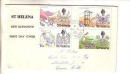 GOOD ST HELENA FDC 1968 - Flora / Flowers - Saint Helena Island