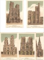 Serie 4ª De Catedrales De Francia Con Explicación En Cada Postal Por Detrás. (10 Postales) - France