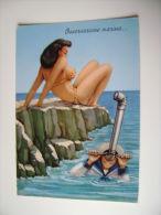 HUMOR  SEXI     DISEGNO  FEMME  DONNA  MARINA    MILITARE NAIA  LEVA  ITALIA      VIAGGIATA  COME DA FOTO - Humor