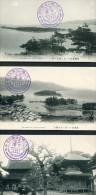 Japan - The Hashitate From Mount Monju / Temple - Miyadzu Tango, The Amanohashidate Souvenir X 3 Postcards - Japan