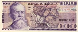 BILLET # MEXIQUE # 100 PESOS # PICK 732 # 1982 # V.CARRANZA # NEUF # - Mexique