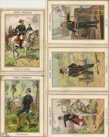 Lot De 5 Chromos Armée De Terre , Amiral , Marin Service De Santé Telegraphiste,genral De Brigade........... - Other