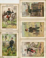Lot De 5 Chromos Armée De Terre , Amiral , Marin Service De Santé Telegraphiste,genral De Brigade........... - Trade Cards