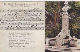 """Cp , 59 , LILLE , Monument De Desrousseaux , Chanson Du """"P'tit Quinquin"""" - Lille"""